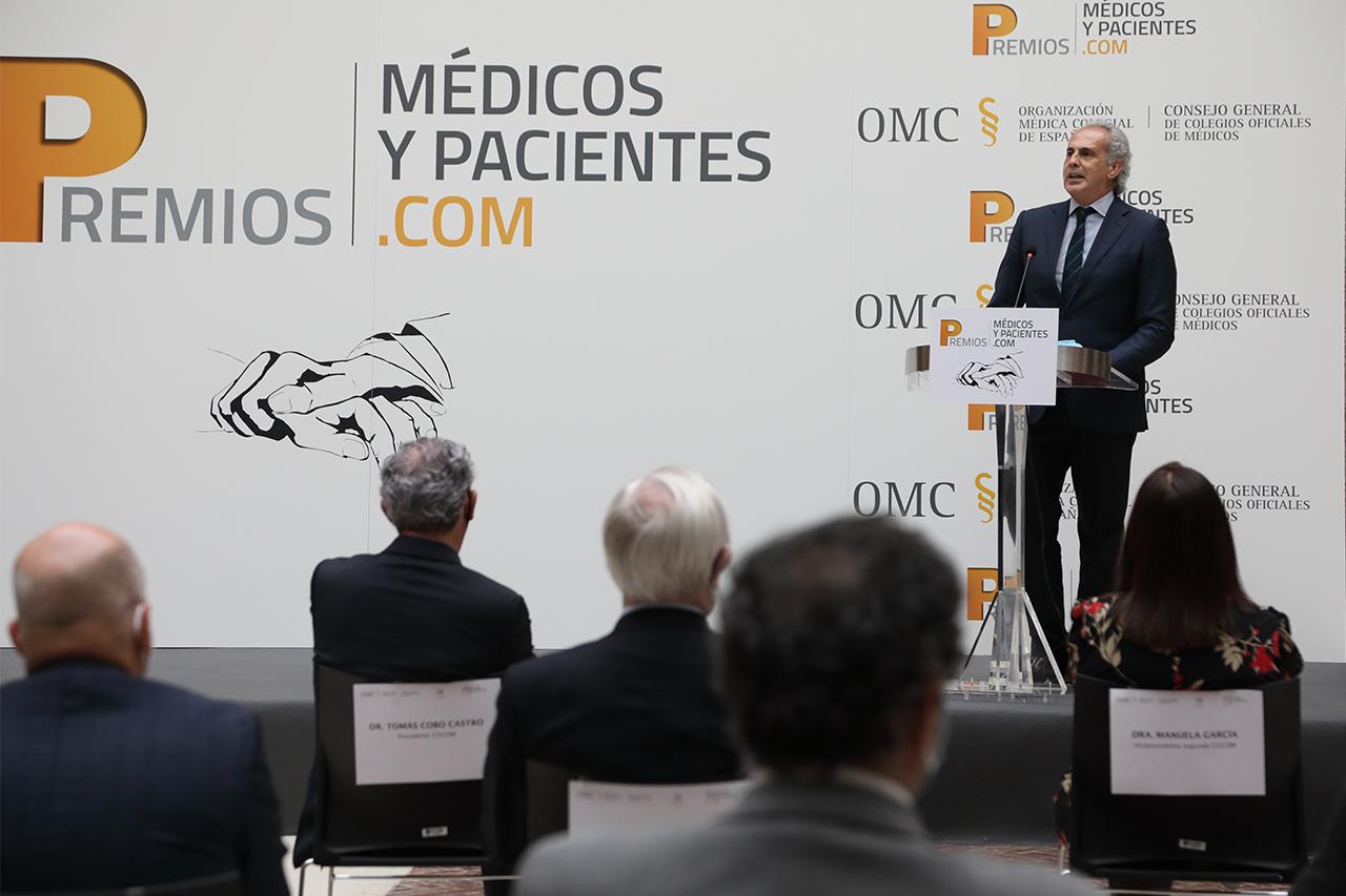 El consejero de Sanidad de la Comunidad de Madrid, Enrique Ruiz-Escudero, clausuró el acto de entrega de premios