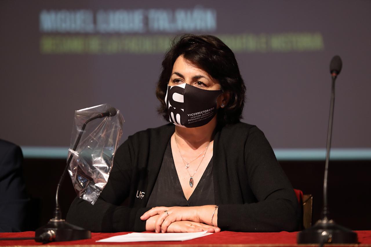 La vicerrectora de Cultura, Deporte y Extensión Universitaria, Isabel García Fernández