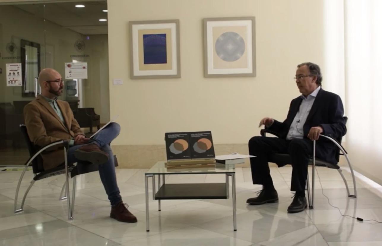 """Ya se puede ver en el canal de YouTube la entrevista al catedrático Delfín Rodríguez, que inaugura el ciclo """"Conversaciones en la nube"""""""