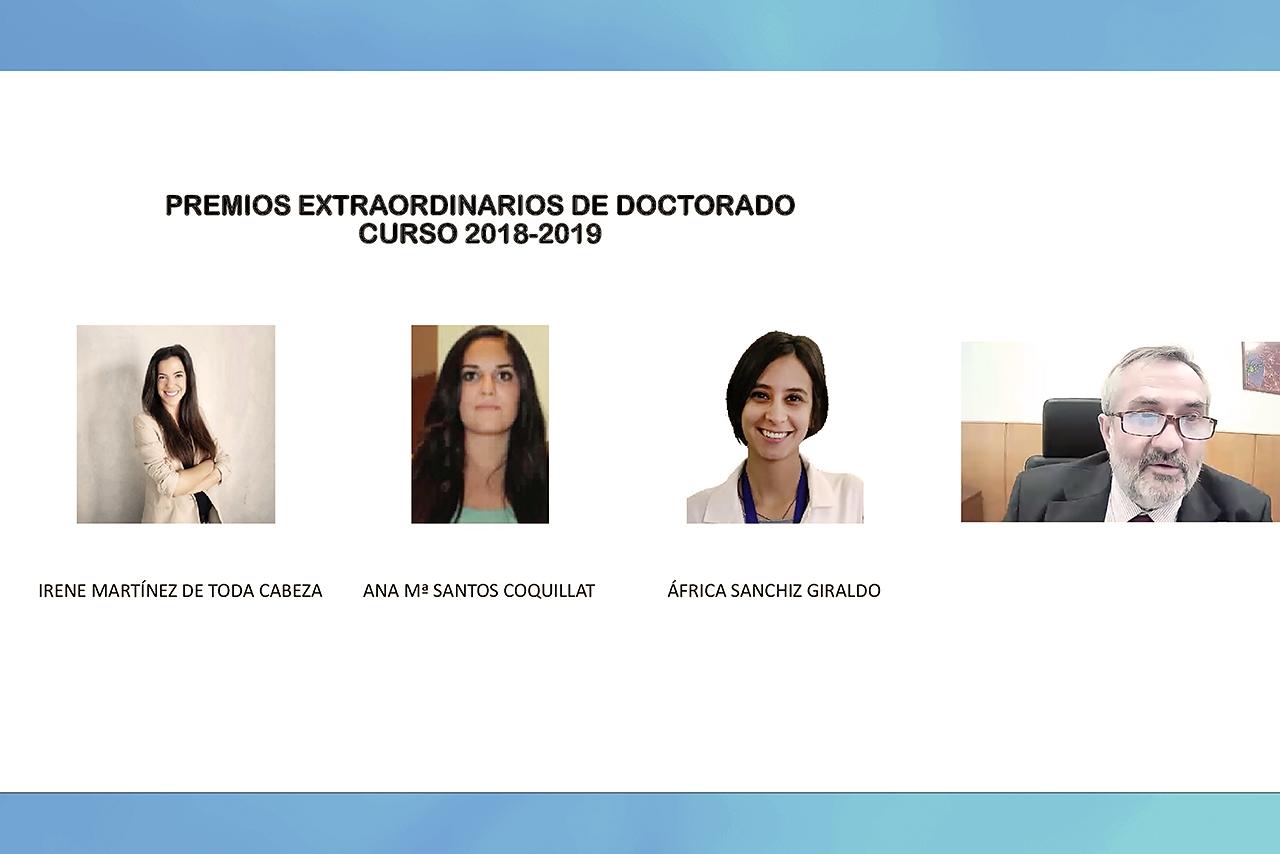 Ciencias Biológicas ha entregado las acreditaciones a los premios extraordinarios de grado, doctorado y másterdel curso 2018-2019, en un webinar, organizado por la propia Facultad
