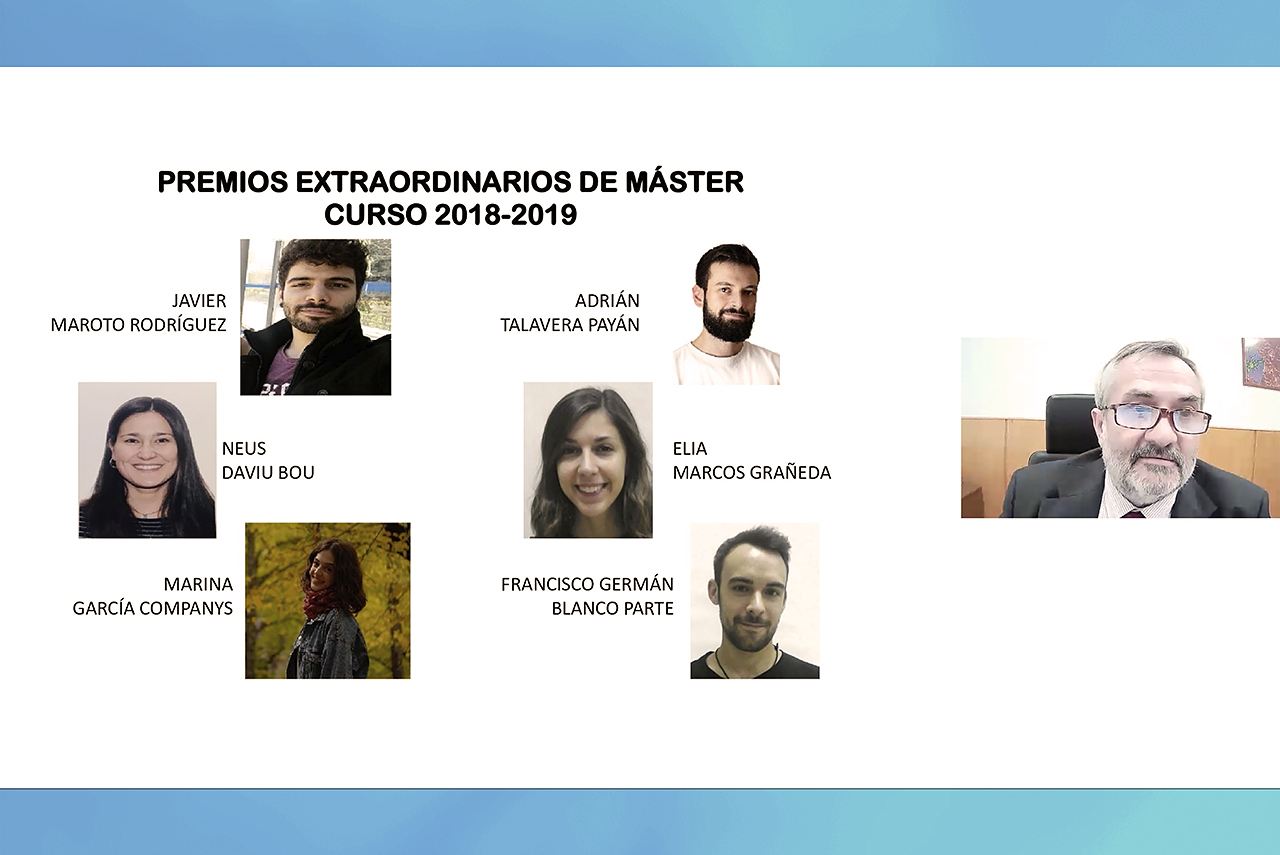 Premios extraordinario de máster del curso 2018-2019