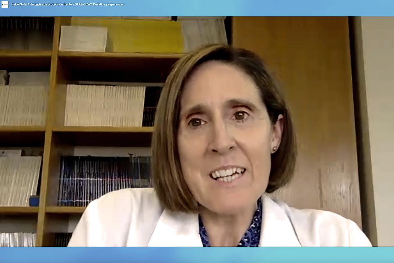La viróloga Isabel Sola informa del avance de las vacunas contra el coronavirus