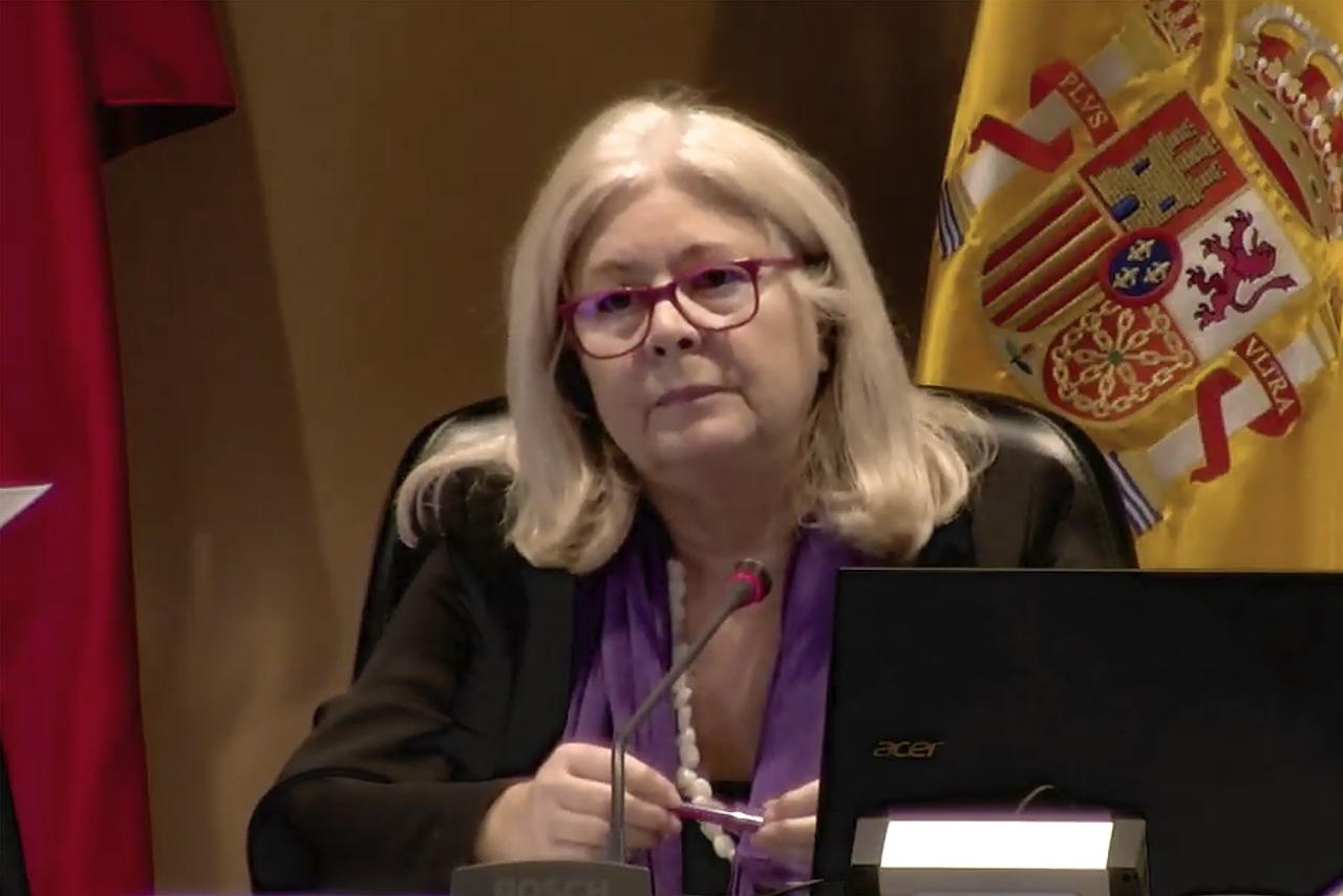 Isabel Tajahuerce, durante su intervención en la jornada
