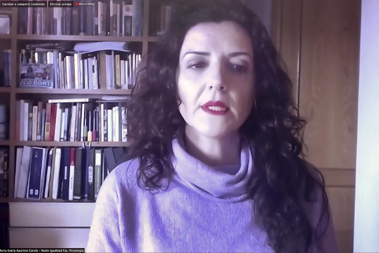 Marta Evelia Aparicio, responsable del nodo de Psicología