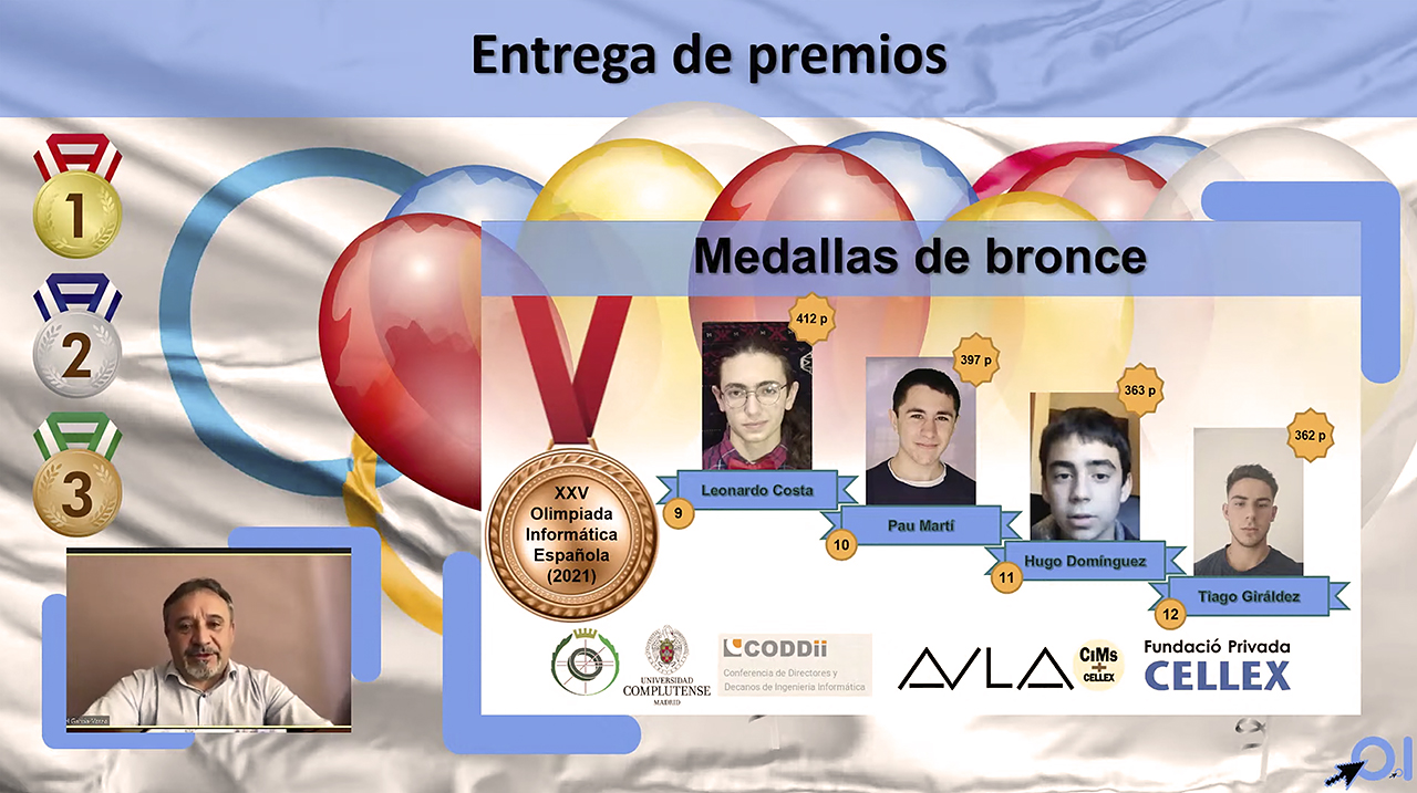 Los cuatro ganadores de la medalla de bronce