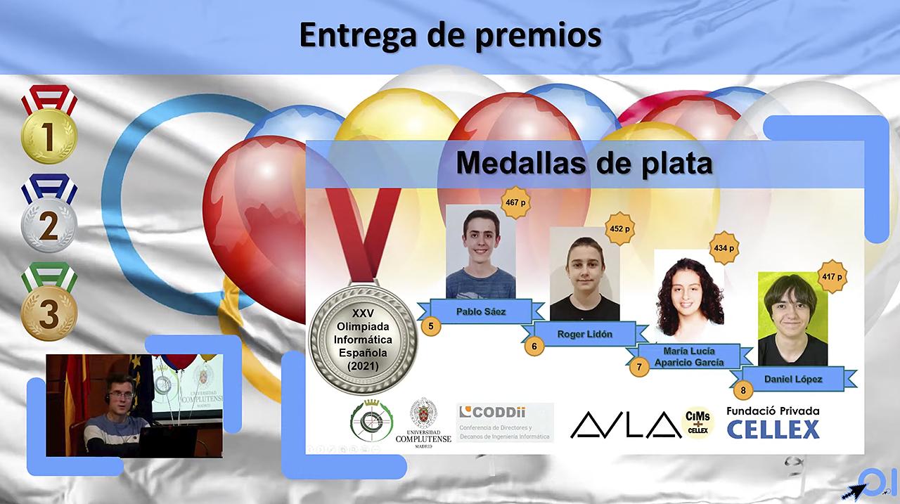 Los cuatro ganadores de la medalla de plata