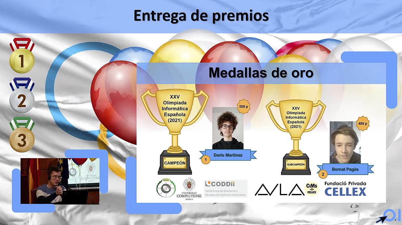 El número 1 y 2 de la XXV edición de la XXV Olimpiada Informática Española