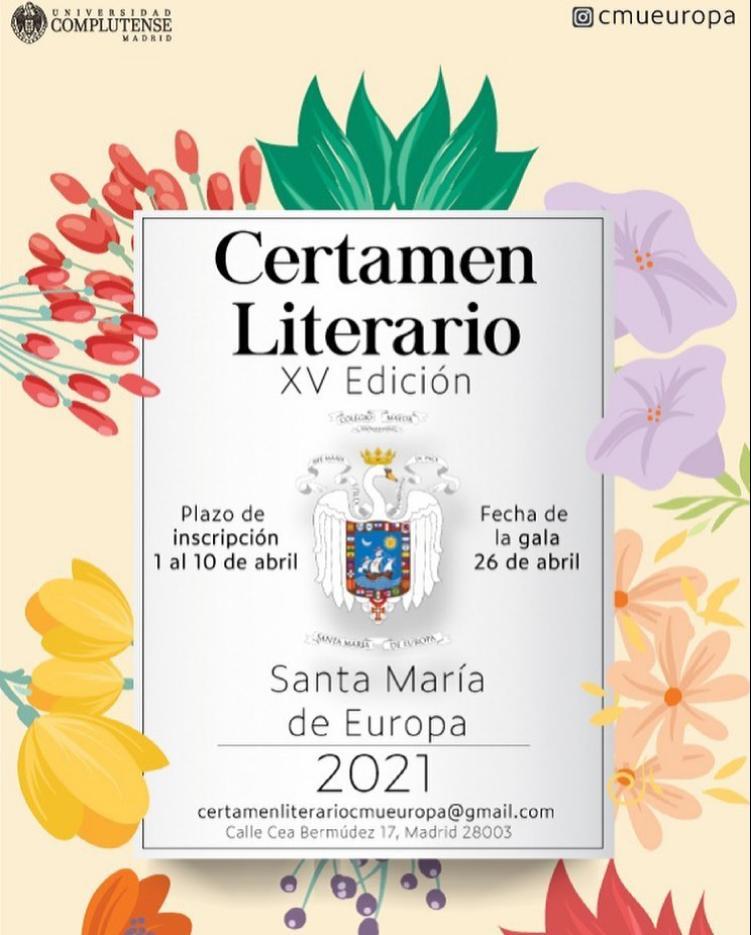 Cartel del XV Certamen Literario