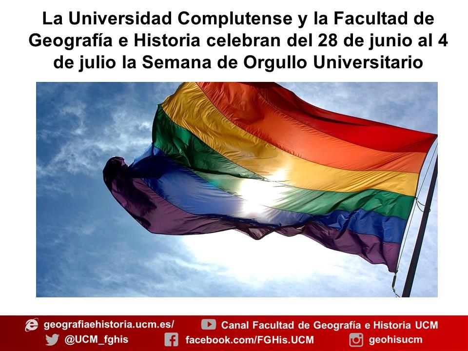 Cartel del Orgullo de la Facultad de Geografía e Historia