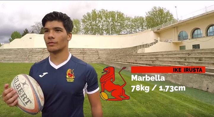 Ike Irusta, en el anuncio de su convocatoria con la selección española de rugby