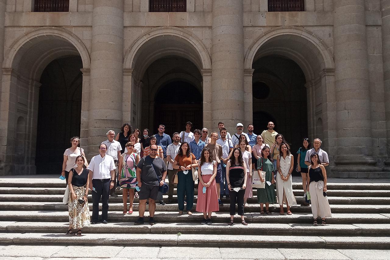 Los asistentes al curso sobre Alfonso X han visitado la Real Biblioteca del Monasterio de El Escorial