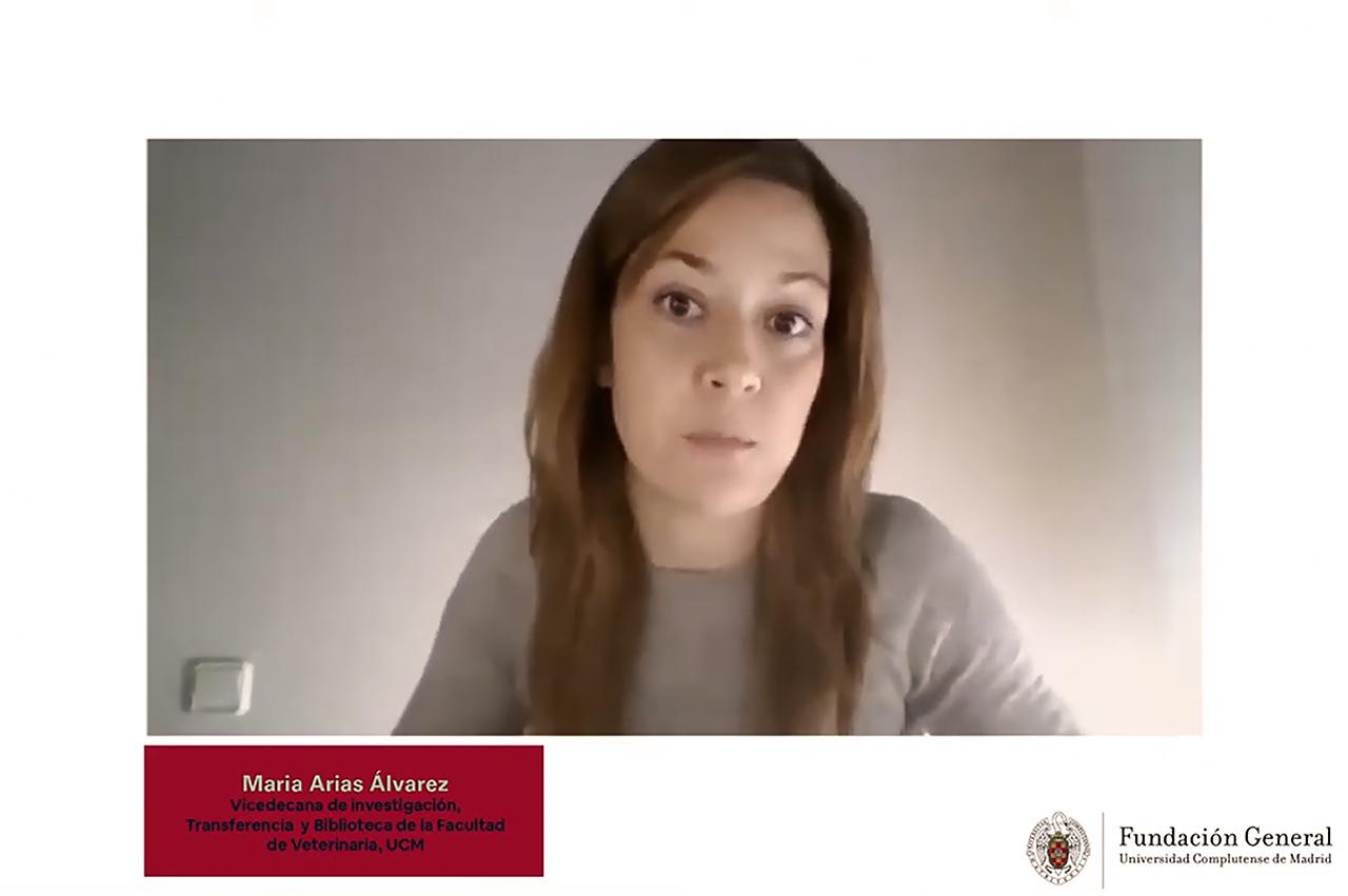 María Arias, vicedecana de la Facultad de Veterinaria