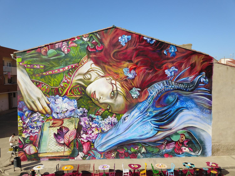 Mural de Lily Brick en Puigverd (lily.cat)