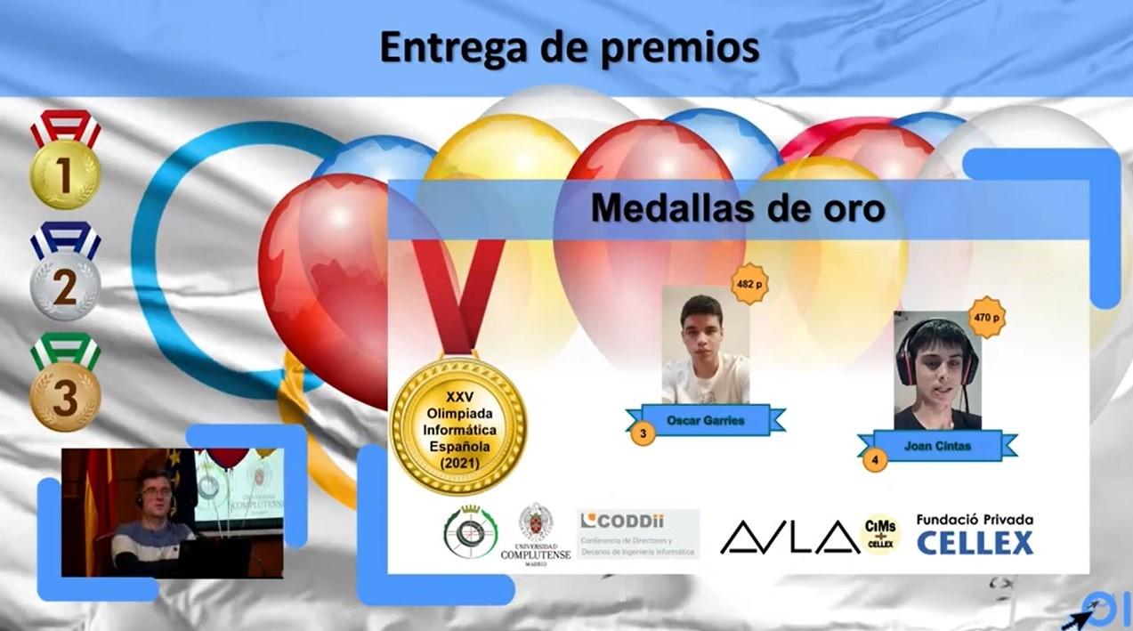 Tercer y cuarto puesto en la XXV Olimpiada Informática Española